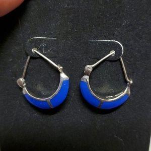 Earings sterling silver lapis